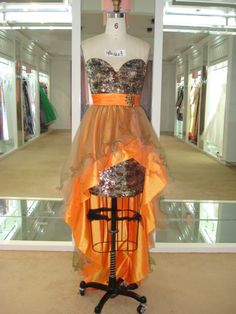 """Call me crazy camo"" prom dress by frenchy...no kidding... So sassy"