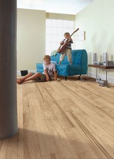 This versatile flooring gives you the ability to have the look of hardwood, but with the ease of maintenance of laminate...Armstrong Flooring - Desert Tan Maple
