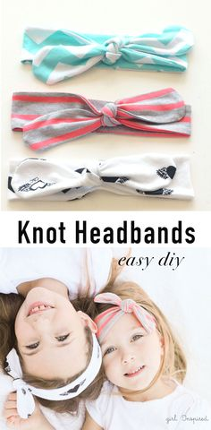 These DIY Knot Headbands are so simple and quick to make! : These DIY Knot Headbands are so simple and quick to make! Sewing Tutorials, Sewing Crafts, Sewing Projects, Sewing Patterns, Crochet Projects, Sewing For Kids, Baby Sewing, Free Sewing, Baby Bows