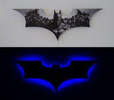 Batman LED light - so cool. Step by step instructions