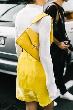 Yellow velvet in Milan