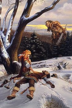 I forget the name of this, but many of Larry Elmore's paintings were covers of Dragon magazine, which I had a subscription to for years until they stopped publishing.