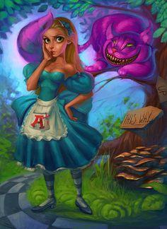 Alice In Wonderland by LifeWithArt123.deviantart.com on @DeviantArt