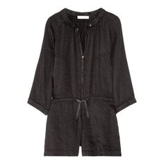 Pre-Owned Isabel Marant Etoile Dark Gray Iron Linen Playsuit Jumper... (2.469.830 IDR) ❤ liked on Polyvore featuring jumpsuits, rompers, multi, linen romper, isabel marant and playsuit romper