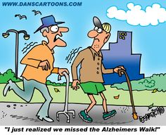 Forgetting to attend the 'Alzheimers Walk'!