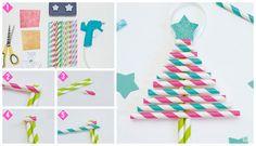 ¡Crea decoraciones navideñas con pitillos y elementos que tienes en casa! <<< Sigue los pasos y dale un toque de magia a tus espacios #ChristmasDreams by #OFFCORSS ⭐