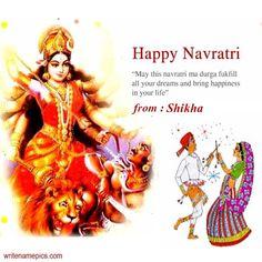 writenamepics Navratri Greetings, Happy Navratri Wishes, Happy Navratri Images, Navratri Wishes Image, Navratri Messages, Eid Greetings, Greetings Images, Dussehra Greetings, Happy Dussehra Wishes