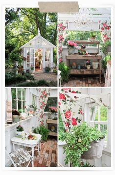 My favorite space from our new spring layout is this little garden nook we put together in the front of the store.  This rustic cabinet is ...