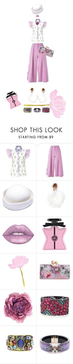 """""""Ode to Springtime...."""" by kjlnelson ❤ liked on Polyvore featuring Roksanda, Malone Souliers, Lime Crime, Bond No. 9, Ted Baker, Gucci, Bavna, Chanel and Alexis Bittar"""