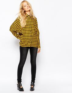 Image 4 of Monki Checked Shirt
