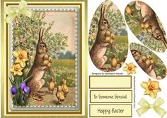 Lovely Rabbit and the chicks  on Craftsuprint - Add To Basket!