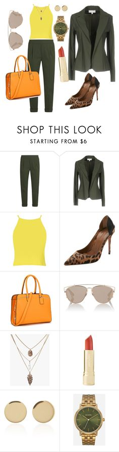 """""""greenspring"""" by perfectioniststudio ❤ liked on Polyvore featuring Vince, Christies à Porter, Aquazzura, Christian Dior, Magdalena Frackowiak and Nixon"""