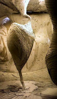 Museum Rijswijk - Papier Bienniale 2004  sculpture by Cozijn van Leeuwen