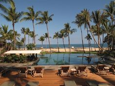 Palm Grove Pool at Four Seasons Resort Hualalai #Hawaii #travel