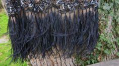 Sz 12 * NWT SUE WONG Flapper Feather Dress Beaded 1920's GATSBY Black  | eBay