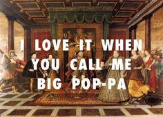 """Over the last few months, Tumblr user """"Fly Art Productions"""" has been putting famous rap lines over classic works of art."""
