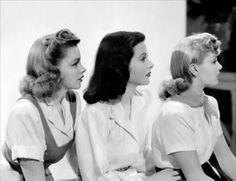 1941. Judy Garland, Hedy Lamarr, and Lana Turner in Ziegfeld Girl