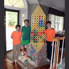 Holy smokes! Check out this 6:1 scale of the Swivel-Snaps rocket that these boys build from our extra show supply! #toys #STEM