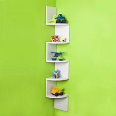 Marvelous Diy Ideas: Diy Ikea Floating Shelves floating shelves with drawers subway tiles.Floating Shelves For Tv Photo Displays long floating shelves couch. Large Corner Shelf, Wall Mounted Corner Shelves, Wall Shelf Decor, Display Shelves, Ladder Display, Wooden Corner Shelf, Corner Shelving, Wall Shelving, Display Wall