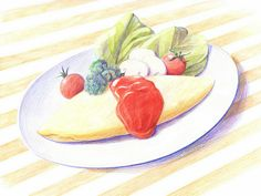 Colored Pencil Drawings of Japanese Food (Vol.01) - Food Drawings : Colored Pencil Drawings of Foods 1