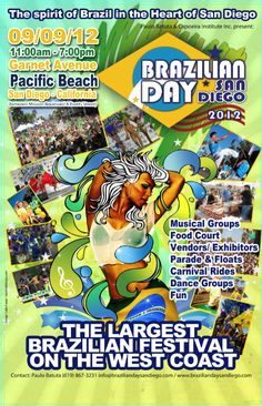 Brazilian Day San Diego this weekend! Septemeber 8th