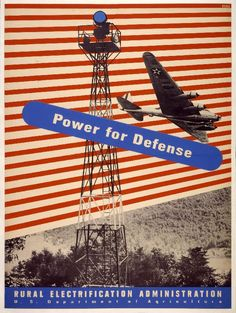 Title :     Power for Defense Artist:     Lester Beall Designer Rural Electrification Administration, US Department of Agric Publisher