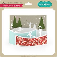Flexi Card Ice Skaters - Lori Whitlock's SVG Shop