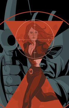 Black Widow and Hawkeye by Phil Noto