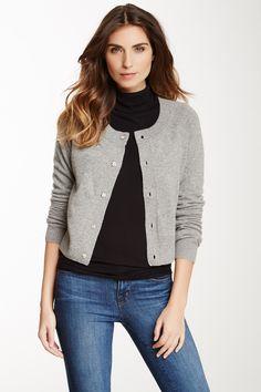 Jewel Button Cashmere Cardigan