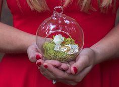 Porte alliances sphère mariage naturel, jardin, champêtre  --------------------------------------------------------------- Si vous aimez la nature et que vous recherchez un por - 8613711