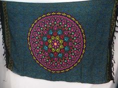 pink teal black Indian star mandala sarong cheap accessories for women $5.25 - http://www.wholesalesarong.com/blog/pink-teal-black-indian-star-mandala-sarong-cheap-accessories-for-women-5-25/