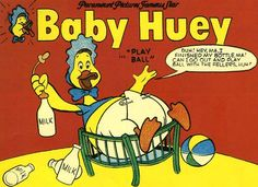 Baby Huey -- the giant duckling! -- a cartoon star during the I loved baby Huey! Vintage Cartoons, Vintage Comic Books, Vintage Comics, Vintage Stuff, Classic Cartoon Characters, Classic Cartoons, Cartoon Fun, Cartoon Books, Harvey Girls