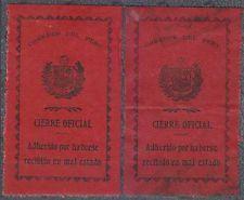 Peru 1928 Sellos Oficiales Sc Unlisted Drummond os31 Dos Sellos Tonos Mint Y Usados