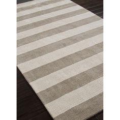Jaipur Konstrukt Linie Transitional Stripe Pattern Wool/Silk Handloom Rug - RUG102395
