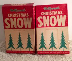 2 Boxes of Hollywood Christmas Snow Old Original by MySweetMadison