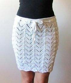 e585fb2246 Lacy Beach Cover Up Skirt Knitting Pattern