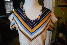 chevron size m/l by CerealVintageThrift on Etsy, $25.00