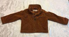 H M 12 18 Month Girls Brown Faux Suede Fringe Western Jacket Fall Winter | eBay
