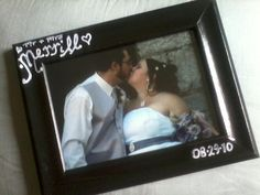 Customized, hand painted, picture frame. Great for newlyweds! Holidays! Special occasions! Gifts! $10 each