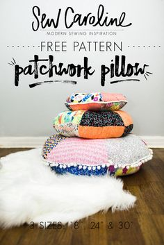 FREE PATTERN - Patchwork Floor Pillows -