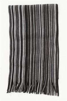 Black Vertical Stripe Scarf by Next