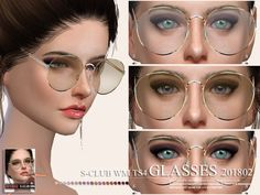 Glasses, 5 swatches, hope you like, thank you.Found in TSR Category 'Sims 4 Female Glasses' Los Sims 4 Mods, Sims 4 Game Mods, Sims 4 Cc Eyes, Sims 4 Cc Skin, Sims Four, Sims 4 Mm, Sims 4 Mods Clothes, Sims 4 Clothing, Sims 4 Nails