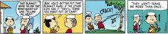 Peanuts Comic Strip, June 18, 2013 on GoComics.com: Linus never was a punk about that blanket!