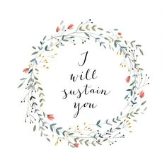 I Will Sustain You - 12 X 12 art print