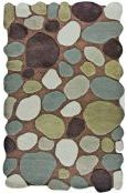 For entryway?  Rugs USA Contemporary Handmade Wool Pebbles Cobblestone