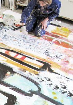 Line Juhl Hansen » Stort maleri endelig færdigt…