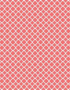 Coral Quatrefoil (Moroccan, damask and polka dots) Free digi printables!  Robin egg blue, wasabi and black onyx too!