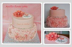 Ruffle flower cake 30th Birthday, Birthday Cake, Birthday Ideas, Jpg, Fancy Cakes, Decorative Boxes, Baking, Floral, Ruffles