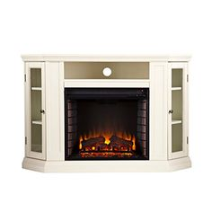 Southern Enterprises Carter 48 in. Convertible Media Electric Fireplace TV Stand in - The Home Depot Modern Electric Fireplace, Electric Fireplace Tv Stand, Electric Fireplaces, Tv Stand Canada, Home Depot, Fireplace Media Console, Tv Stand Wayfair, Plasma Tv Stands, Convertible