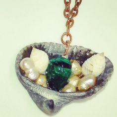Shell, pearl and glass pendant necklace #shell #pearl #aqua #glassdrop #copper #necklace #seashell #beach #seaside #smallbusiness #texas #tx #shoplocal #dallas #fortworth #dfw #atx #austin #dallastx #sea #beach #ocean #nautical #amandanancedesigns #coastal #ilovetheocean #madeintexas #metroplex #global #summer #jewelry